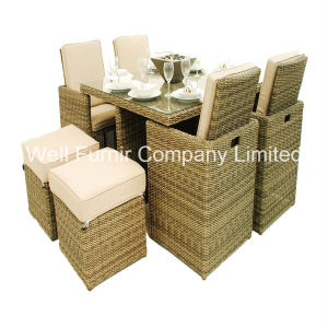 7PC Patio Wicker Dining Set/Outdoor Rattan Furniture/Dining Table/Rattan Dining Chair pictures & photos