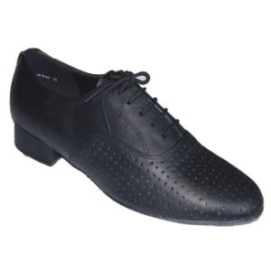 Black Leather Men′s Tango/Standard Dance Shoes pictures & photos