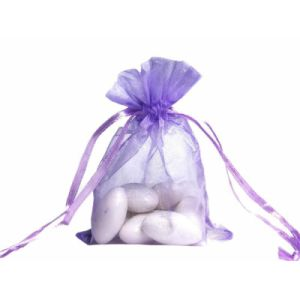 Large Purple Organza Gift Bags Wholesale pictures & photos