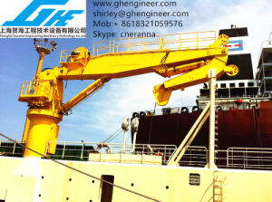 Knuckle Boom Hydraulic Crane with Full Rotary and High Performance pictures & photos