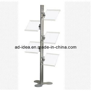 Magazine Holder Floor Standing & Portable Literature Display Stand pictures & photos