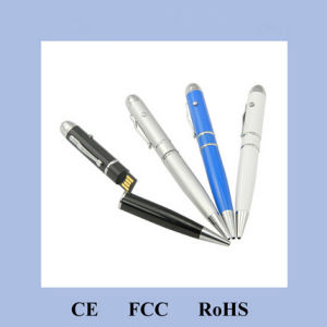 Red Laser Point USB Pen for Promotion H-3103 pictures & photos