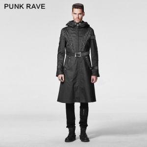 Y-606 Punk Rave Wholesale Mens Black Gothic Long Winter Coat pictures & photos