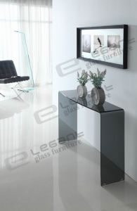 Cheap Grey Glass Console Table Made in China pictures & photos