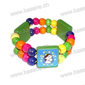 Hot Sale Fashion Women′s Wood Bracelet with printing Picture pictures & photos