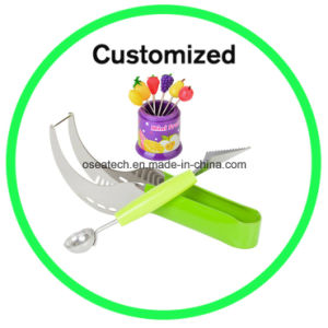 Melon Knife Fork Set with Logo pictures & photos