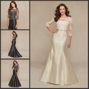 Lace Sleeves Party Prom Gowns Mermaid Bridesmaid Dresses Y1021 pictures & photos