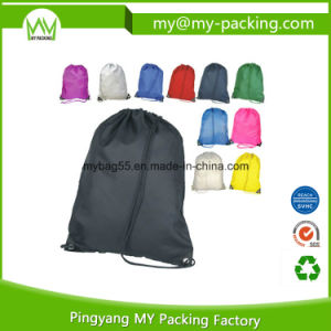 Foldable Rope Eyelets Drawstring Bag for Shop pictures & photos