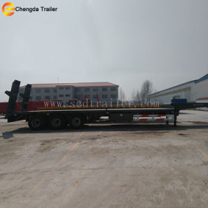 3 Axles Lowbed Low Bed Lowboy Semi Trailer pictures & photos