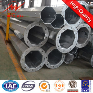 HDG 24kn 18m Steel Tubular Pole Supplier pictures & photos