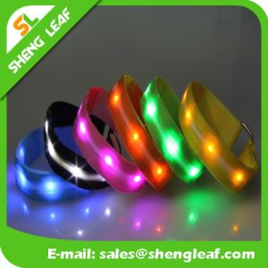 Nylon LED Flashing Wristband Strap Wristband for Outdoor Sports pictures & photos