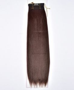 Natural Brown Long Straight Hair Extension with 5 Clips