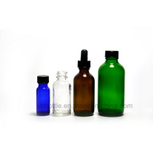 Amber, Blue, Clear Green Boston Round Glass Bottles pictures & photos