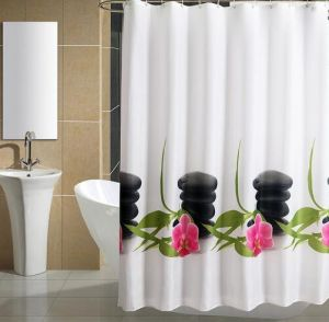 Plastic Shower Curtain Selling in Carrefour pictures & photos