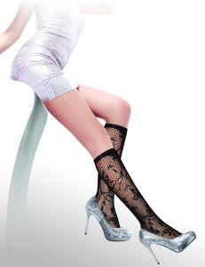 Floral Pattern Fishnet Knee High Socks 8436-L pictures & photos