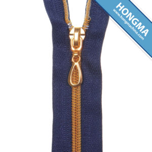 SGS Approved Metal Brass Zipper Long Chain pictures & photos