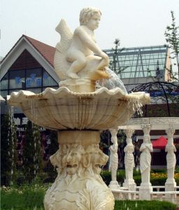 Natural Marble Carved Water Fountain for Garden, Square pictures & photos