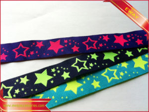 Yellow Stars Design Jacquard Tapes Woven Tapes pictures & photos