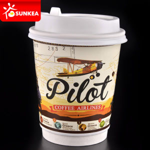 Colour Logo Print Coffee Spill Grease Proof Paper Cup pictures & photos