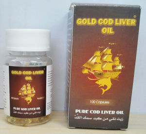 Gold Cod Liver Oil, Vitamin a and D Soft Capsules pictures & photos