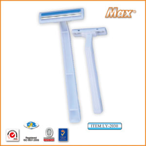Twin Stainless Steel Blade Disposable Razor Fro Man (LY-2030) pictures & photos