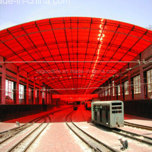 10mm Red Color Polycarbonate Twin Wall Hollow Sheet pictures & photos