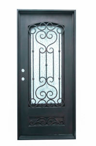 Modern Wrought Iron Single Door with From China Factory pictures & photos