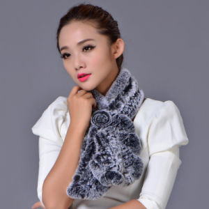 Lady Fashion Rex Rabbit Fur Big Winter Scarf (YKY4399) pictures & photos