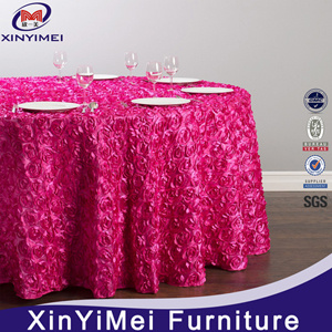 Rosette Satin Table Cloth Cheap Price pictures & photos