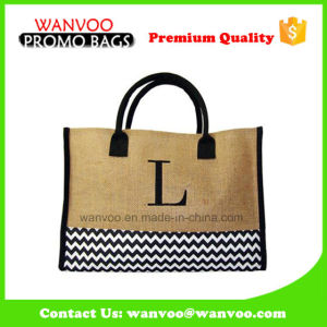 Embroidery Jute Storage Bag in China Factory pictures & photos