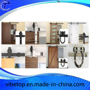 Black Steel Residential Sliding Barn Door Hardware pictures & photos