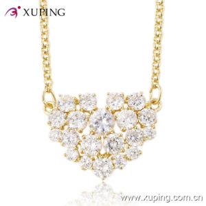 Luxury CZ Diamond Heart-Shaped Fashion Imitation Jewelry Necklace -41416 pictures & photos