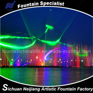 Large 3D Laser Water Fountain in Lake