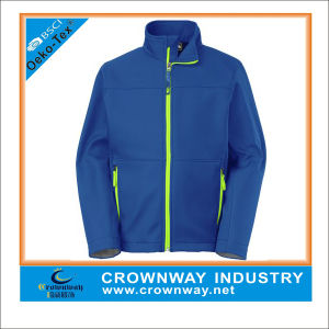 Wholesale Custom Men Softshell Jacket with Stand Collar pictures & photos