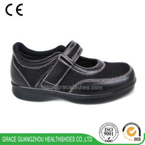 Grace Health Shoes Comfortable Leather Diabetic Shoes (9610066-1) pictures & photos