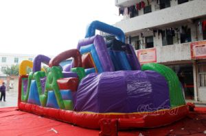Inflatable Wacky World Obstacle Course Chob324 pictures & photos