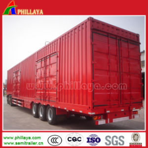 3 Axles 60 Tons Box Trailer in Semi Trailer pictures & photos