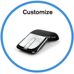 Logo Printed Wireless Foldable Mouse pictures & photos