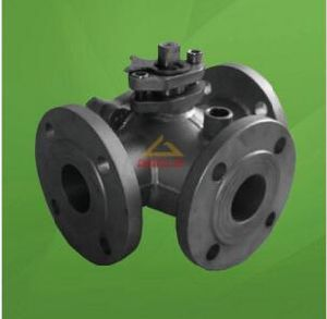 Steam Jacketed T Port Three Way Ball valve (GAQ45F) pictures & photos