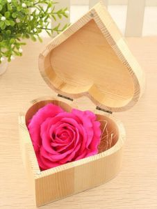 Luxury Wood Grain Paper Jewelry Storage Box pictures & photos