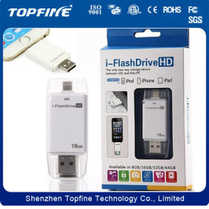 I-Flash Device HD OTG USB Flash Drive U Disk for iPhone 5 5s 6 Plus iPad Mini PC Ios pictures & photos