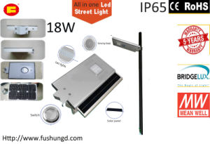 18W Integrated Solar LED Street Light with Road