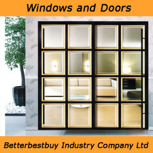 Black Color UPVC Door with Special Design pictures & photos
