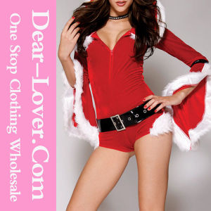 2016 Fashion Women Christmas Leather Costume pictures & photos