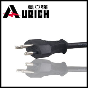 Switzerland 3pins Sev Power Cord with Plug (Y005)