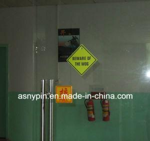 205mm Square Door Sign Hard Plastic Caution Sticker pictures & photos