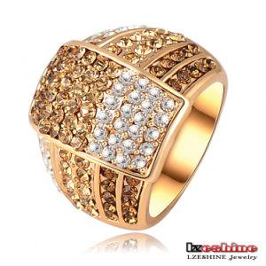 18k Gold Plated Women Rings (Ri-HQ0020)