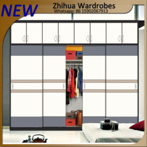 Zhihua Modern 2 Colors Combined Wardrobe Closet Sliding Doors pictures & photos