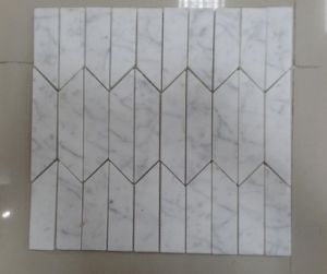 New Design White Marble Calacatta Mosaic in New Shape with Very Competitive Prices pictures & photos
