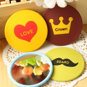 Promotion Gifts Silicone Mini Cosmetic Mirror Bag Mirror Cover pictures & photos